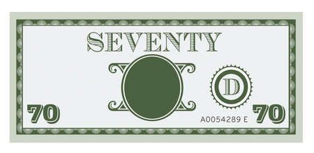 bank notes: Seventy money bill image. With space to add your text, information and image.