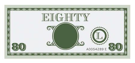ochenta: Ochenta imagen Cuenta de dinero. Con el espacio para a�adir su texto, la informaci�n y la imagen.