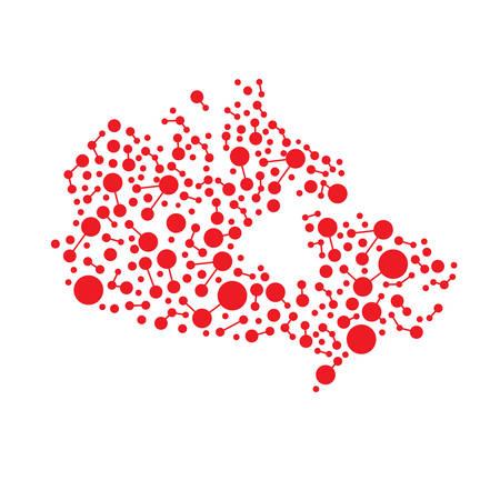 Canada mappa connettività dati.