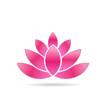 abstract logos: Luxury Lotus plant image.