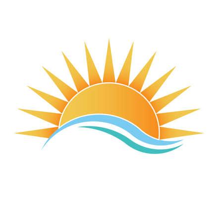 Luz do sol com ondas