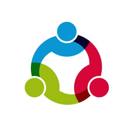 Social Network, Groep van 3 mensen uit het bedrijfsleven mannen.