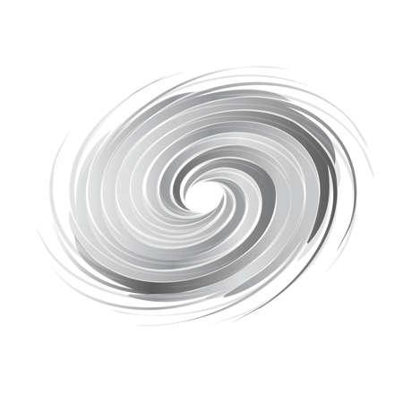 Immagine astratta cerchio turbolenza. Concetto di uragano, twister, tornado Vettoriali