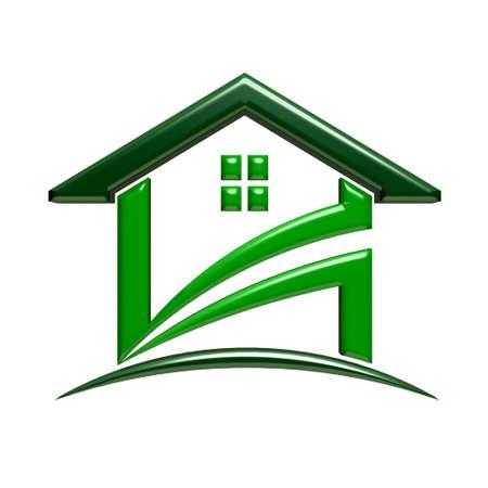 Green house icon photo