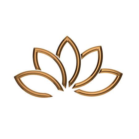 gold leafs: Luxury Bronze Lotus plant image
