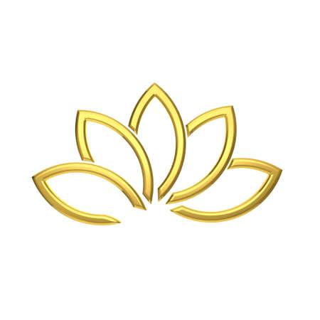 Immagine Pianta Golden Lotus Luxury Archivio Fotografico