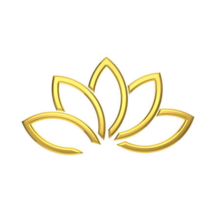 gold leafs: Luxury Golden Lotus plant image