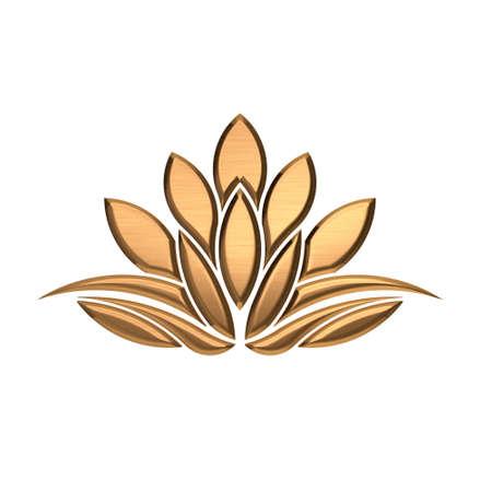copper: Imagen Planta de Bronce Lotus Luxury Foto de archivo