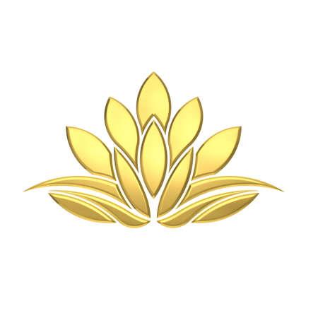 saludable logo: Imagen Planta Golden Lotus de Lujo Foto de archivo
