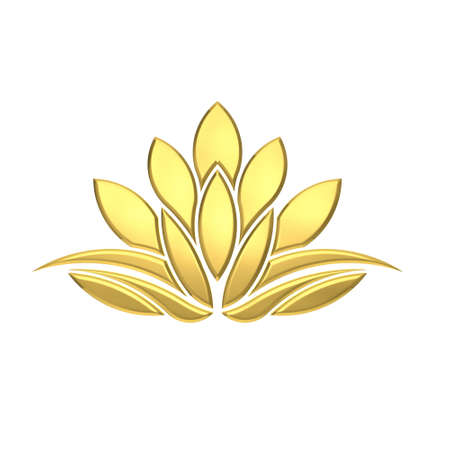 spa beauty: Luxury Golden Lotus plant image