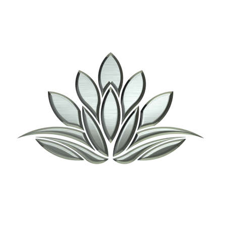 Luxus Silber Lotus Bildwerk Standard-Bild - 35209166