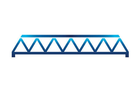 Blue Straight Bridge Icon