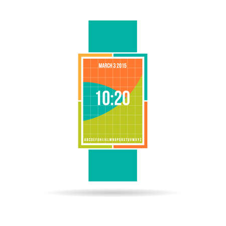 wristbands: Smart watch contemporary color design