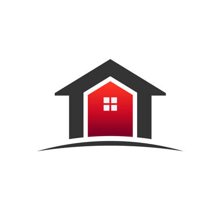 Huizen onroerend goed pictogram Stock Illustratie