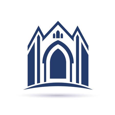 vangelo aperto: Chiesa icona facciata Vettoriali