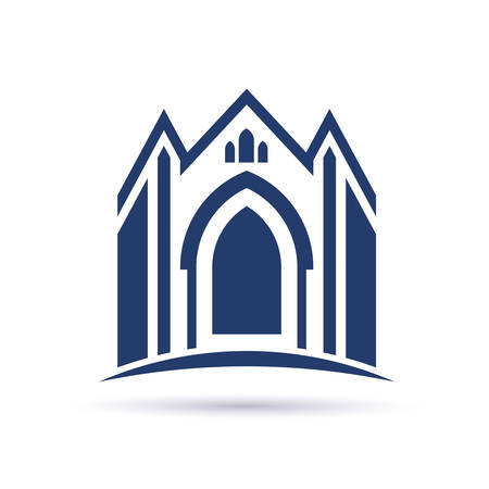 church window: Church facade icon Illustration