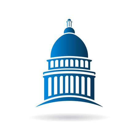 chapiteaux: Vecteur Capitol ic�ne de b�timent Illustration