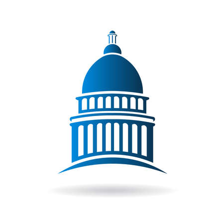 hill: Vector Capitol building icon Illustration