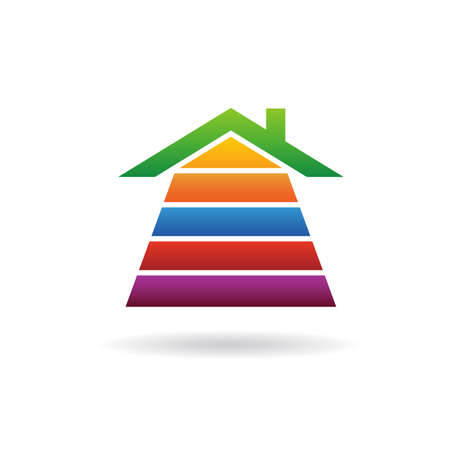 House stripes  infographic Vector