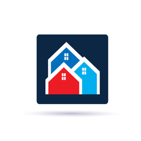 residential neighborhood: Houses neighborhood Illustration