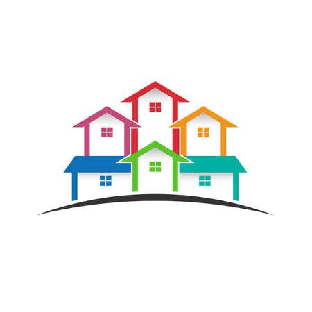 Group of houses Çizim