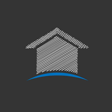 House scribble design icon