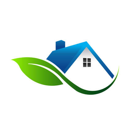 Leaf house icon