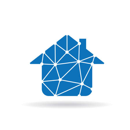 residential homes: House network icon