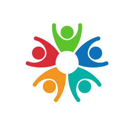 5 people: Teamwork 5 people group