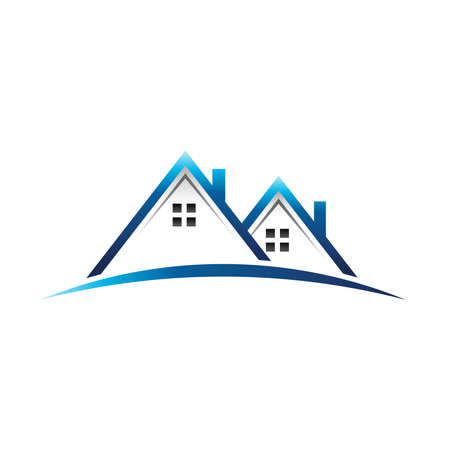 Houses real estate icon 向量圖像