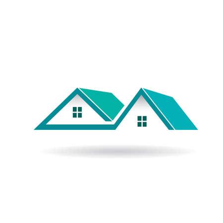 Case e tetti icona Vettoriali