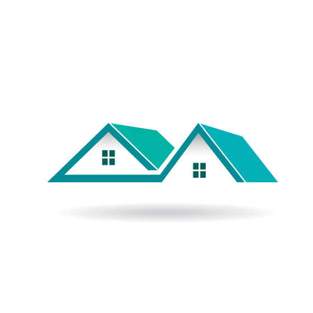 Houses and Roofs icon Vector