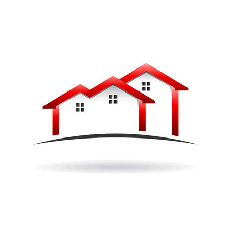 housing estate: Roof  houses icon Illustration