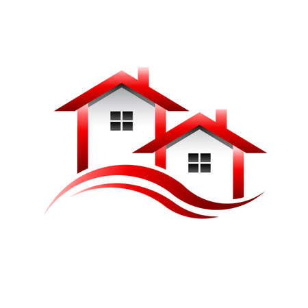Häuser in der Welle Standard-Bild - 35963626