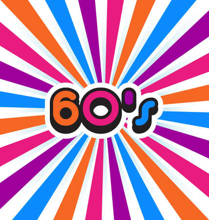 60s: 60s party background