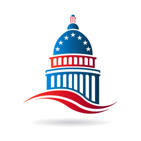 congresses: Capitol building in red white and blue