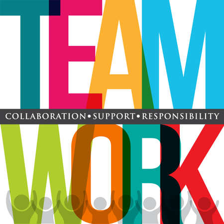 Teamwork typography