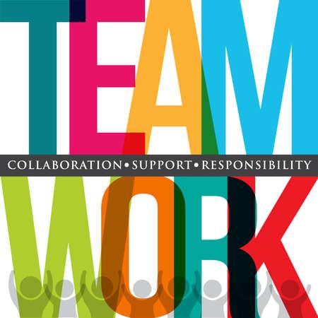 Teamwork typografie