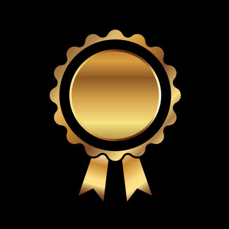 medal ribbon: Gold medal ribbon on black background