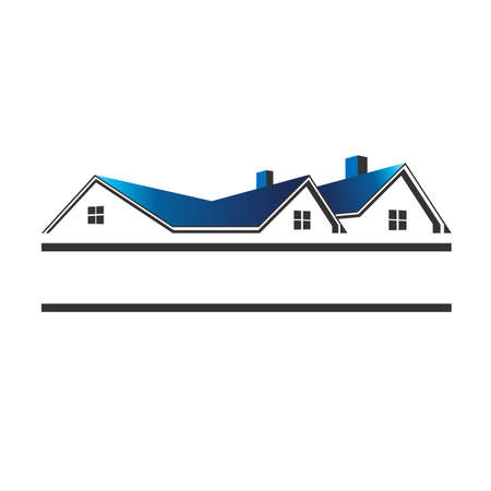 rent house: Houses roofs for real estate Illustration