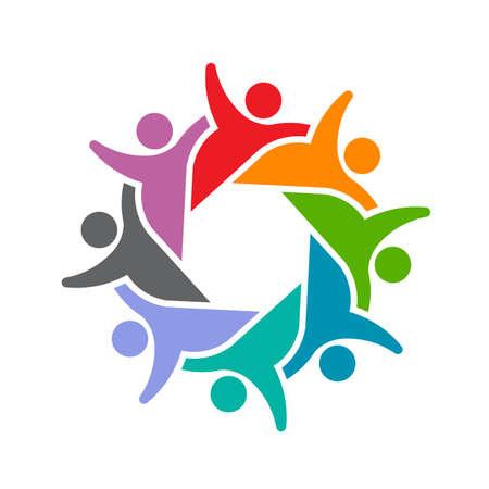 Social 8 People group party Çizim