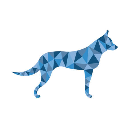 Dog in polygon pose Stock Illustratie