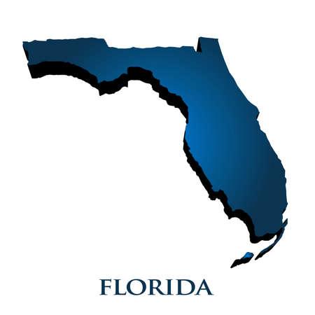 3D Carte graphique de l'État de Floride Vecteurs
