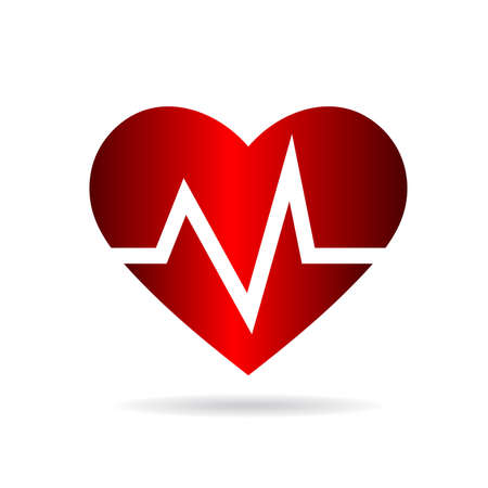ecg heart: Heart beat rate,Cardio and medical