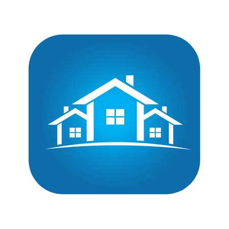 Real Estate Houses for sale sign Illustration