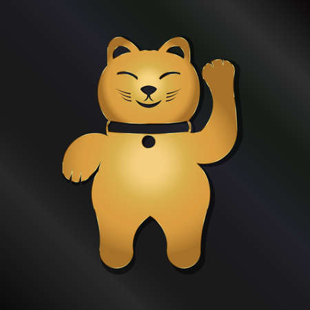 neko: Golden Lucky Neko Cat Illustration