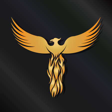 ancient bird: Golden Phoenix Bird