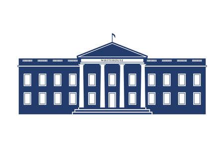 La construcción de la Casa Blanca Ilustración de vector