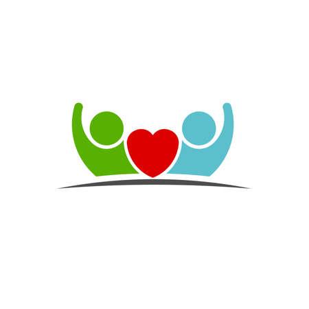 manos logo: Trabajo en equipo Cinco Amigos imagen. Concepto de Grupo de personas, felices, la victoria