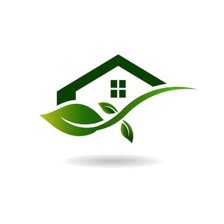 ecology icons: Green House Business